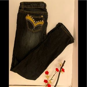 Antique Rivet  Rhinestone jeans size :30